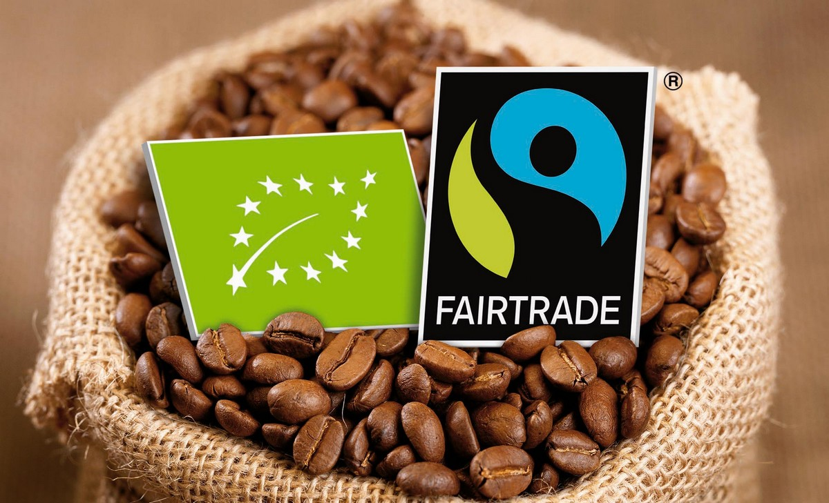 Coffee Beans with Organic/Bio and Fairtrade mark